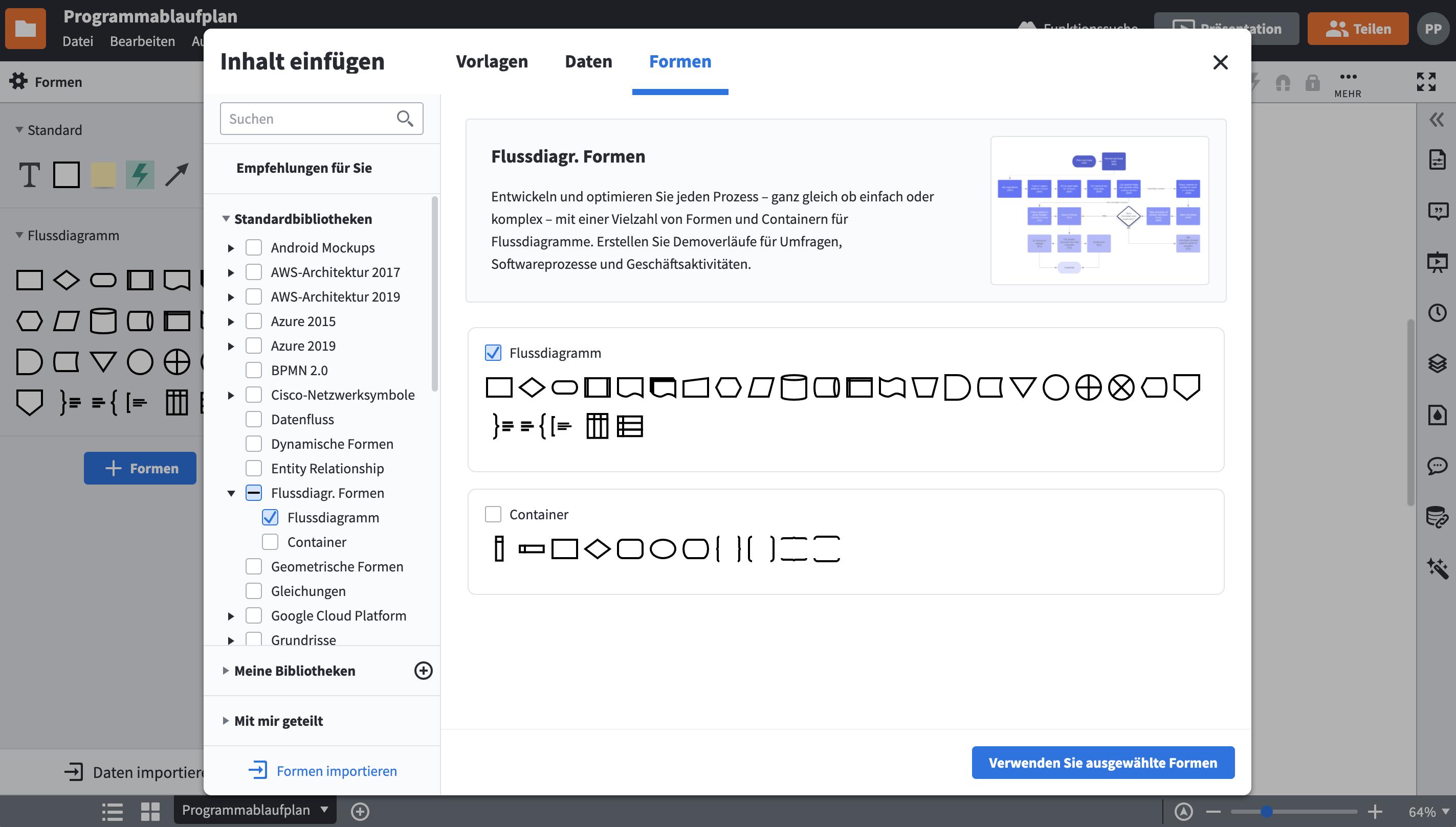 Programmablaufplan Symbole