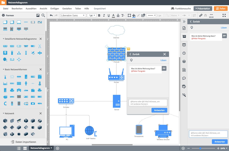 Netzwerkdiagramm zeichnen