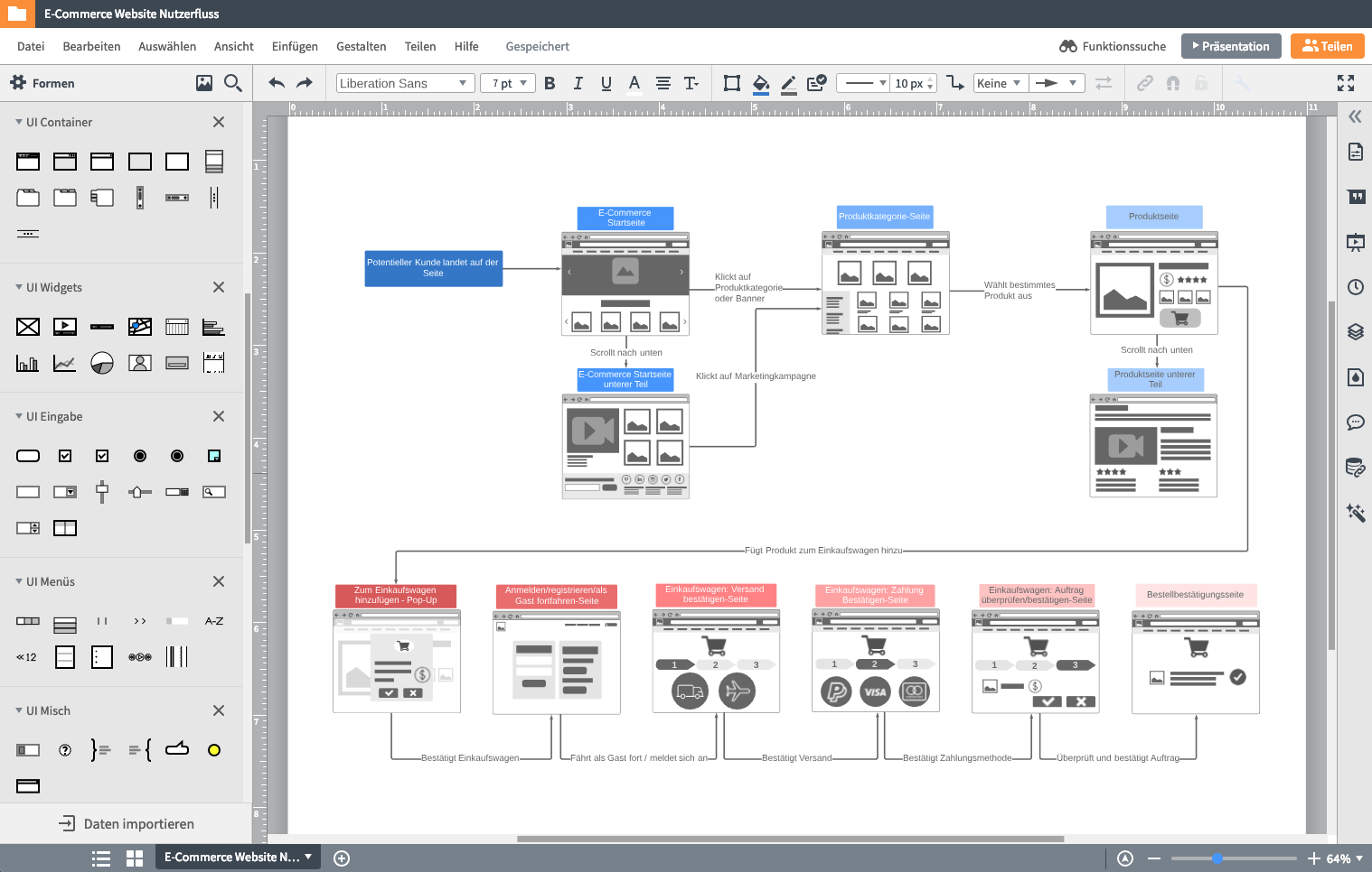 Wireframe design