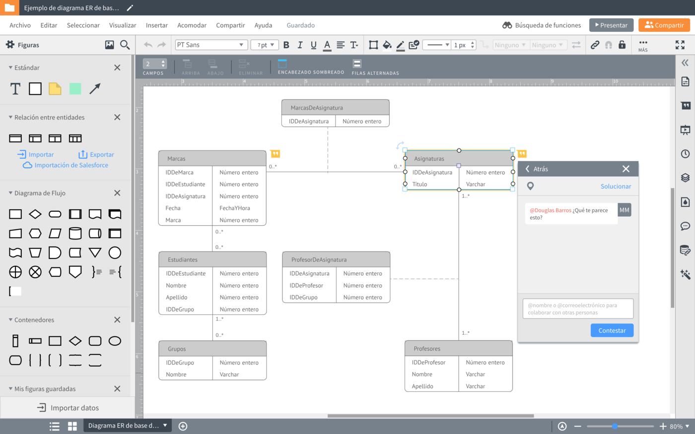 Diagramas entidad relacion online