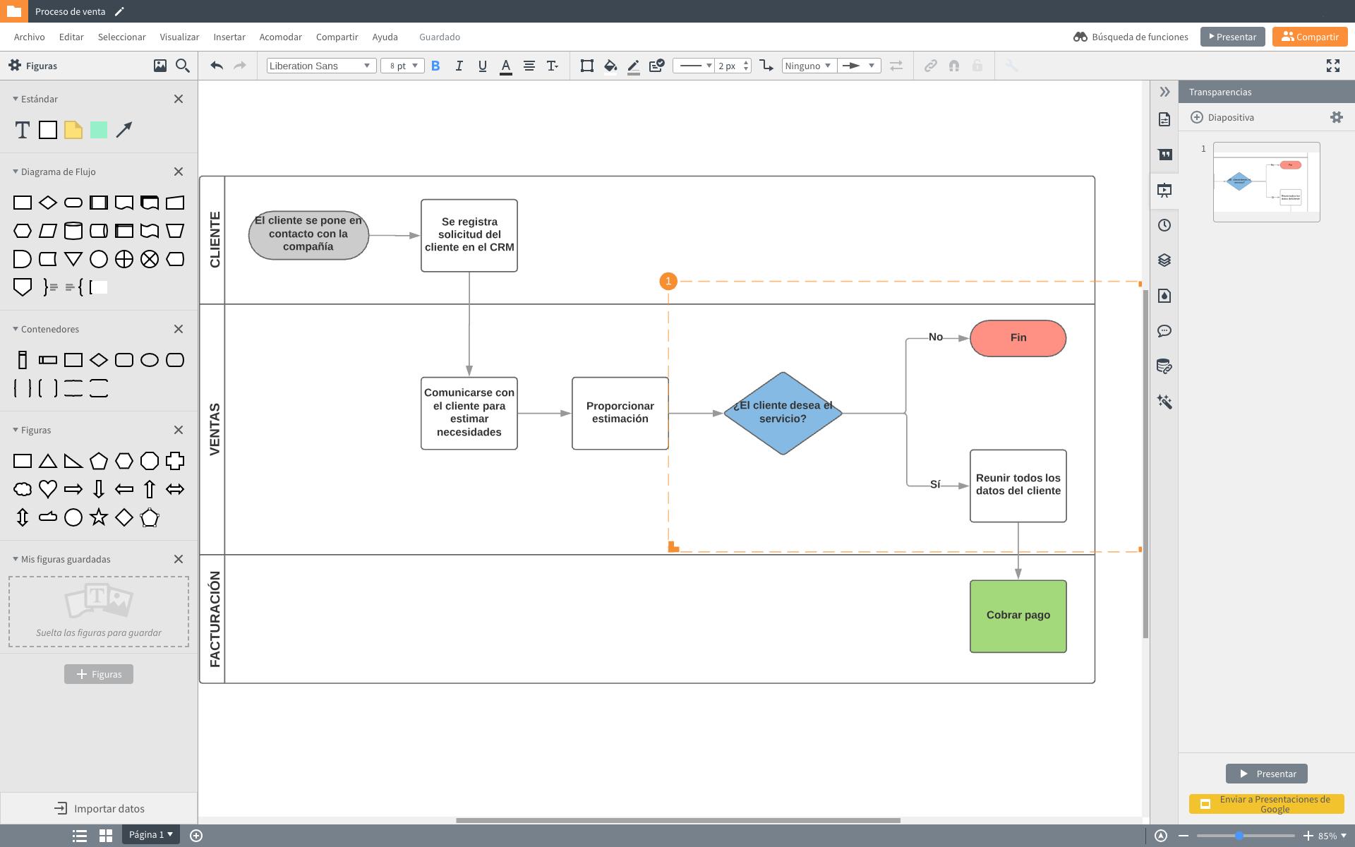Programa para hacer diagramas de flujo online gratis