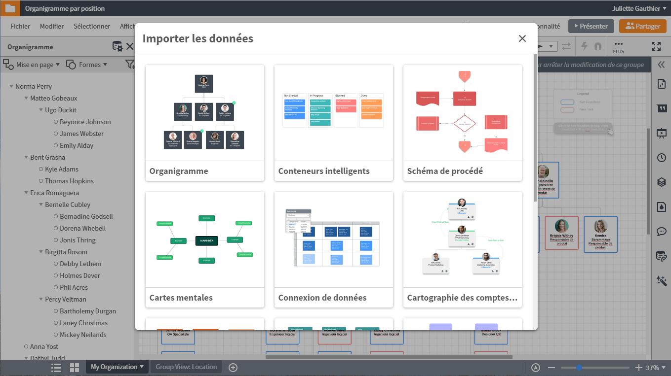 Créer un organigramme avec vos données