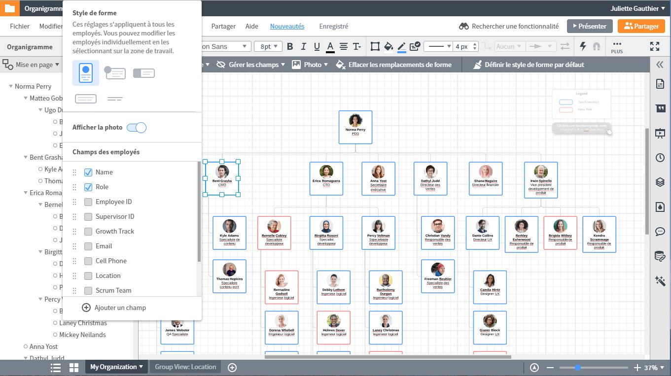Créer un organigramme en ligne