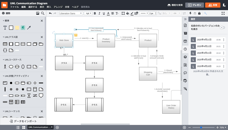 オンラインブロック図作成ツール