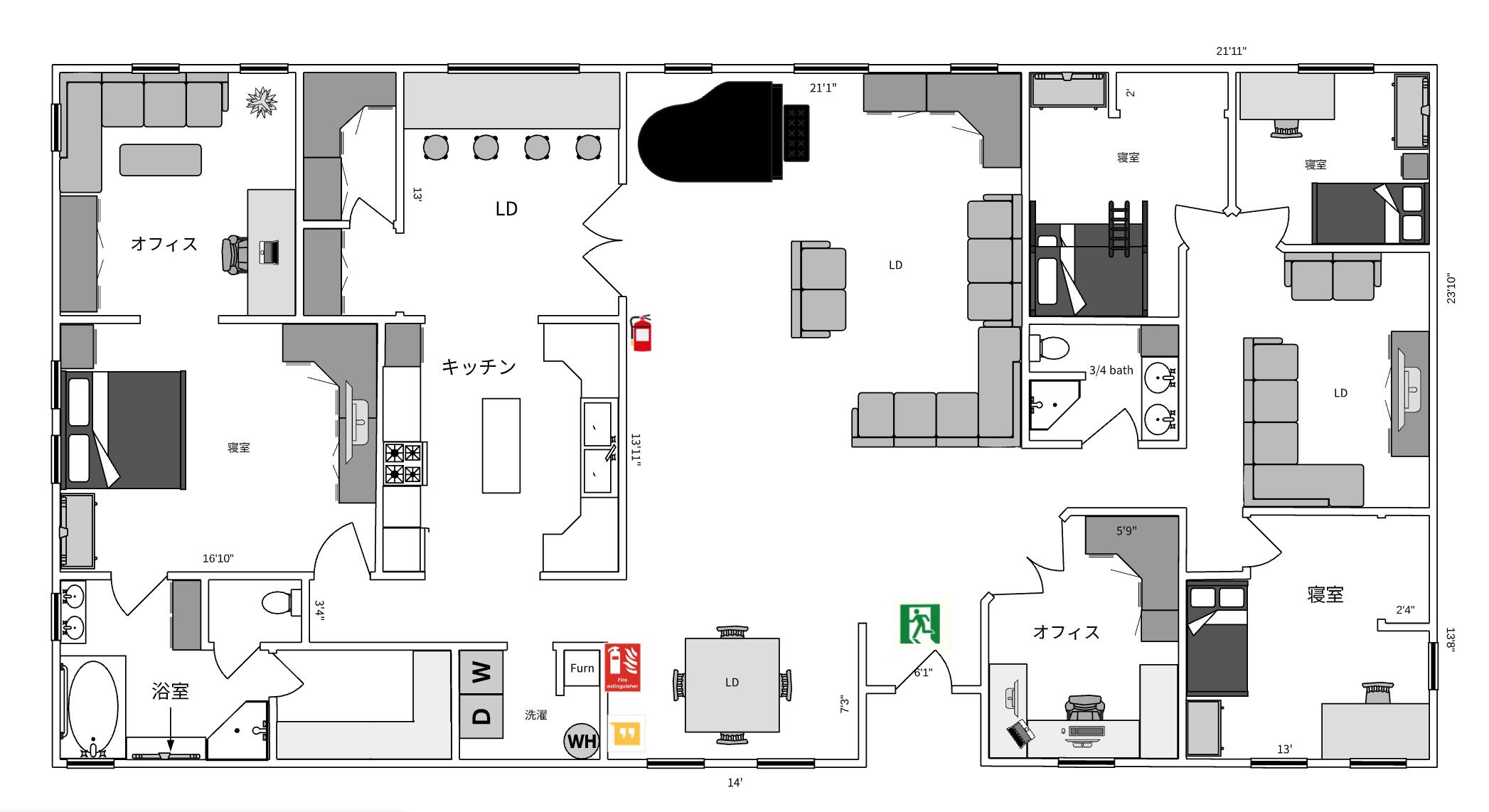 避難経路図の見本1