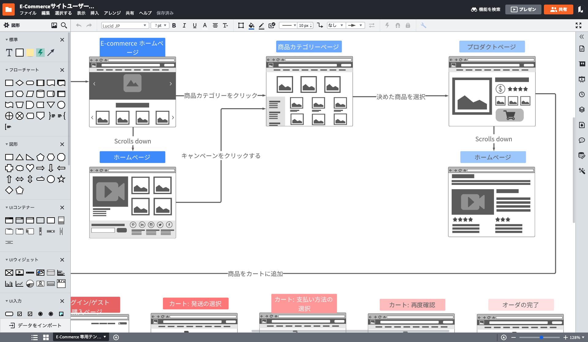 どんなデザインもLucidchartのモックアップ作成ツールで