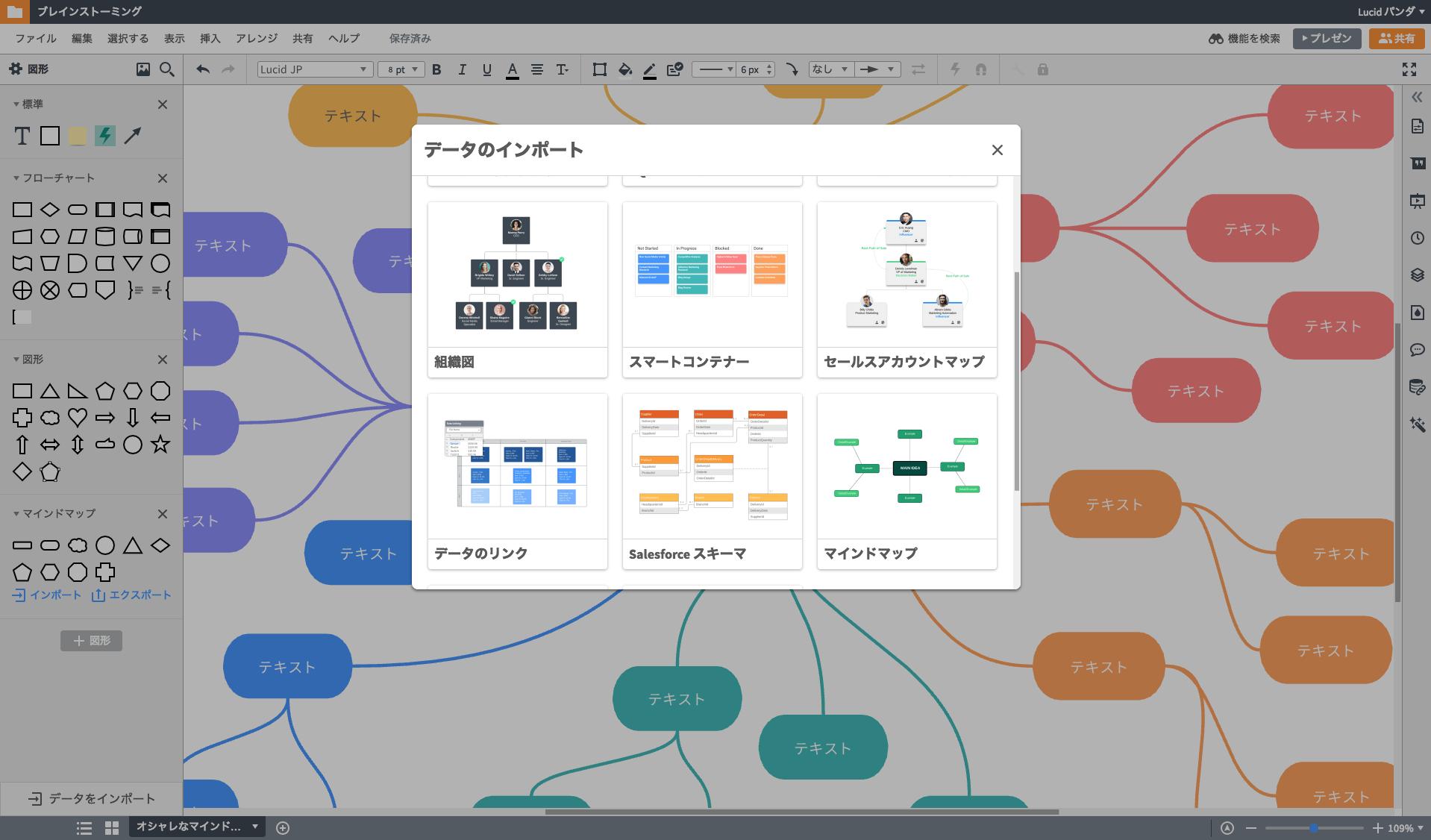 オンライン上でマインドマップをツールで楽に作成