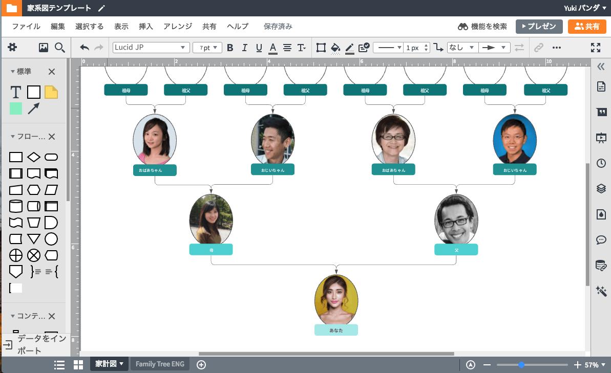 家系図作成ソフトで親族の歴史を理解する。