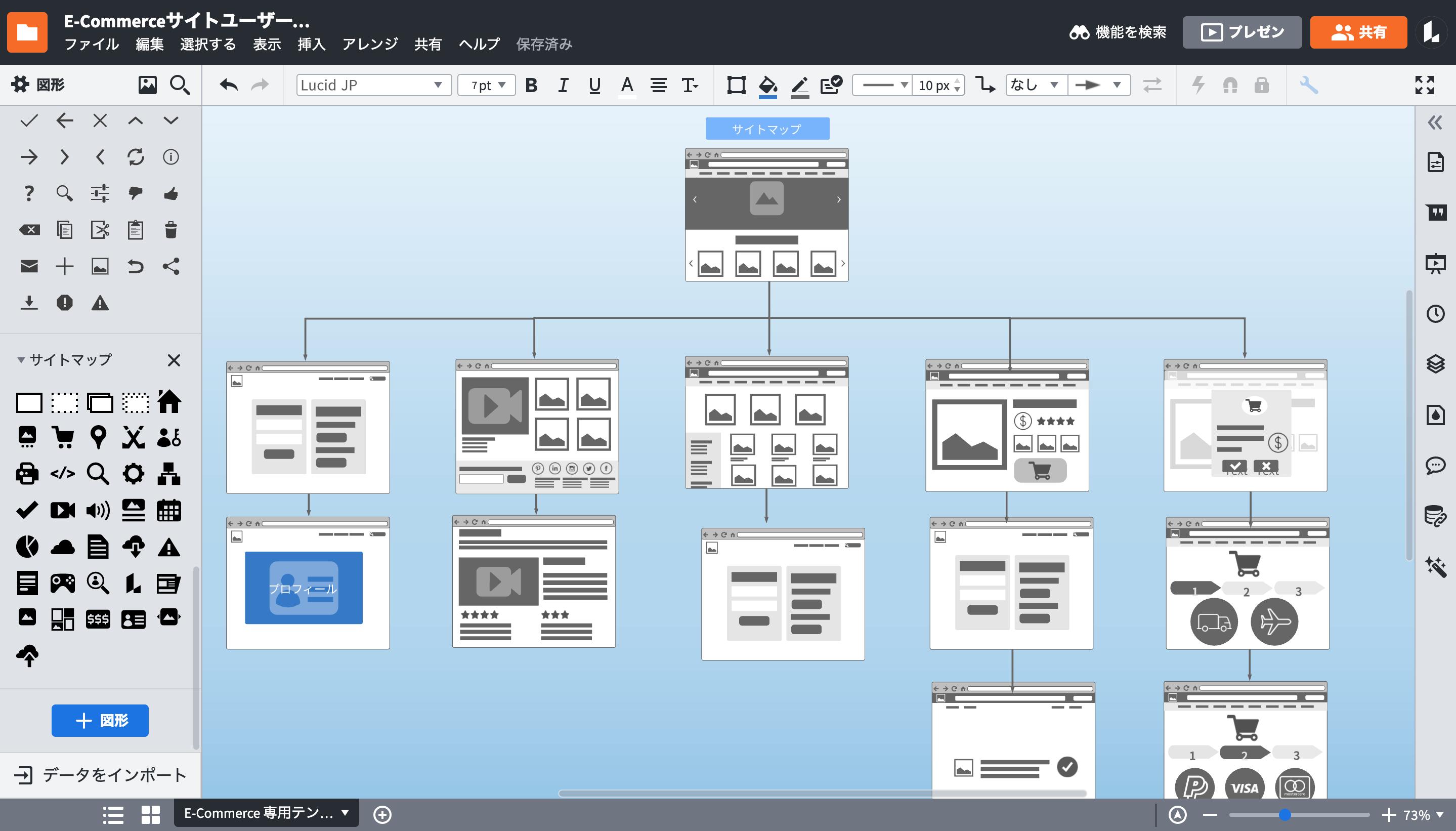 サイトマップの可視化ならLucidchartサイトマップツールにお任せ