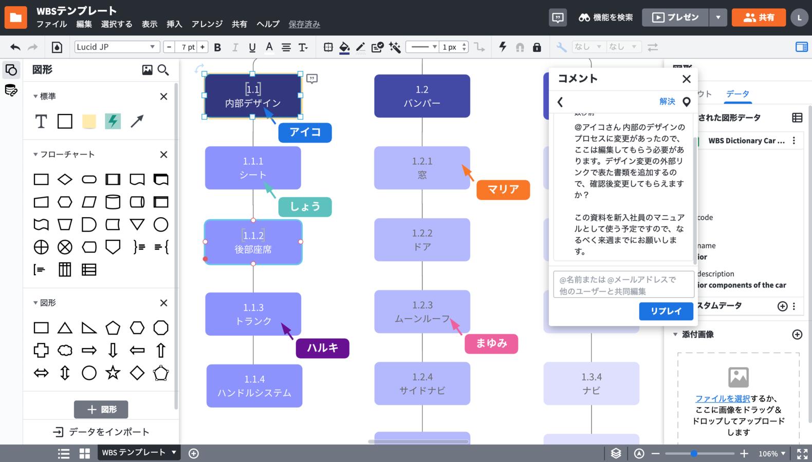 作業分解図ツール(WBS)
