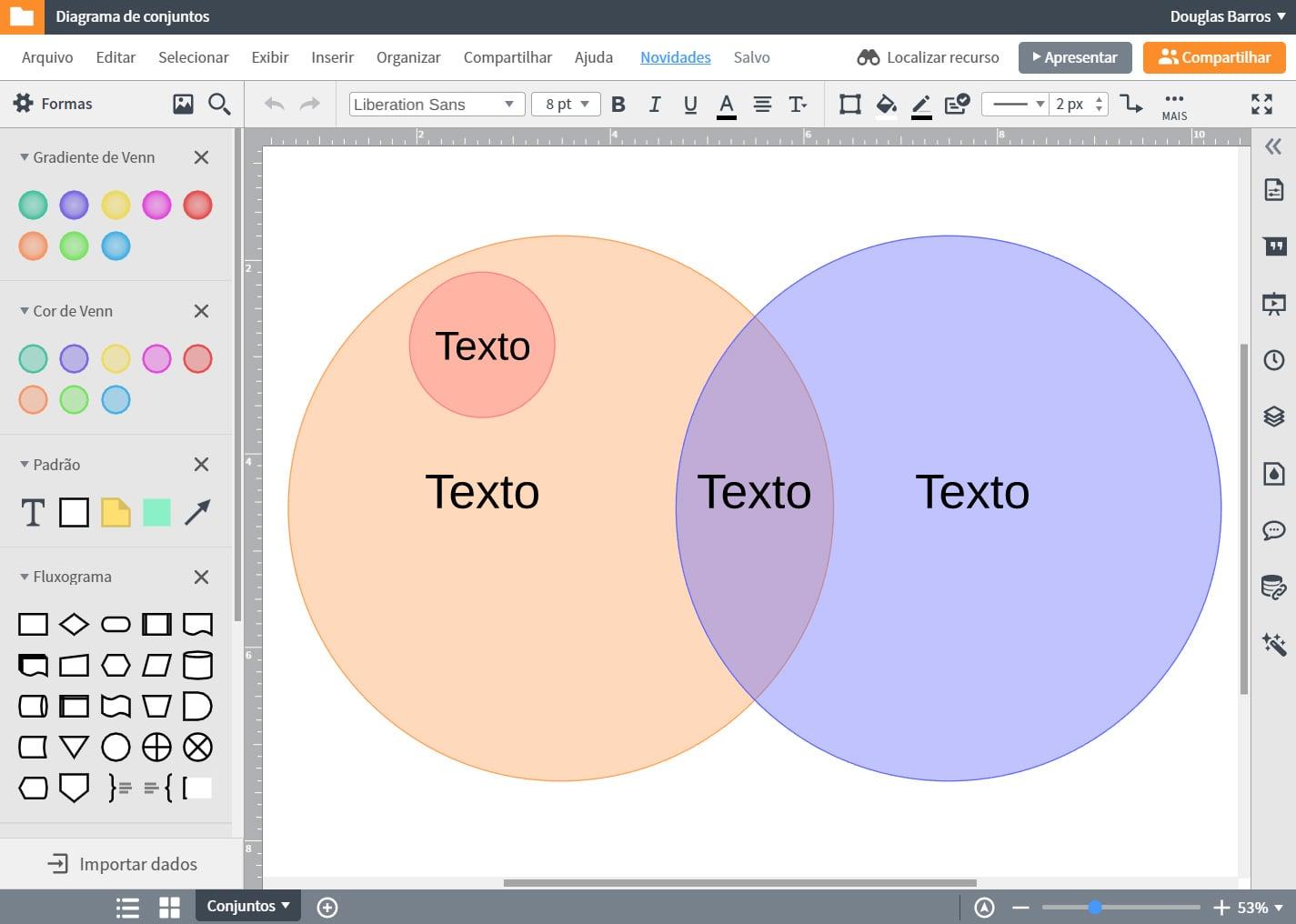 Software de criar diagrama de Venn online grátis