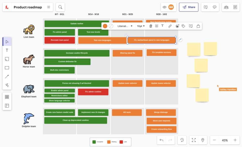 Produkt Roadmap Tool