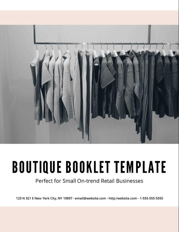 boutique booklet template